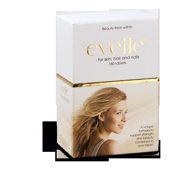 Evelle-eske med 180 tabletter