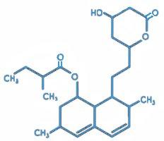 Den molekylære struktur af lovastatin
