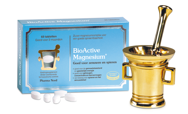 Box containing 200 mg Bio-Magnesium tablets