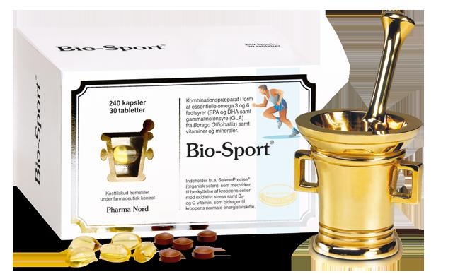 Æske med 240 kapsler med omega 3 og GLA og 30 tabletter med antioxidanter
